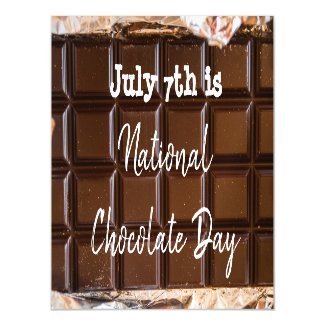 July 7th is National Chocolate Day Magnetic Invitation