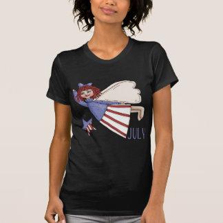 July Angel Summer Patriotic Design T-Shirt