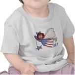 July Angel Summer Patriotic Design Tee Shirts