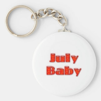 July Baby Key Chains