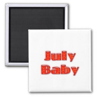 July Baby 2 Inch Square Magnet