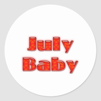 July Baby Sticker
