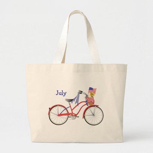 July Bicycle Tote Bag