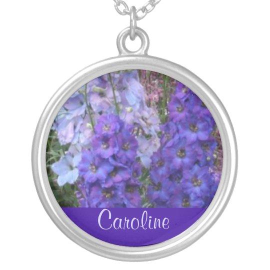 JULY Birth Flower - Delphinium Necklace