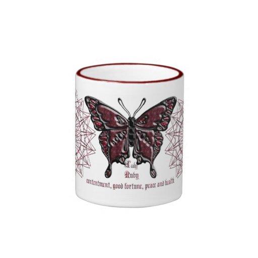 July Birthstone Butterfly Mug