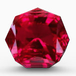 """July Birthstone- Red Ruby  by Sharles Award<br><div class=""""desc"""">Awesome red ruby gemstone for July birthdays.  Also a perfect gift for the holidays with red accessories and decorating.  There are throw pillows,  coffee, mugs,  dinner plates,  napkins and other nifty gifts with this ruby motif in this store to assist in decorating a holiday room or a birthday party.</div>"""