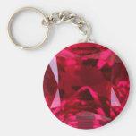 July Birthstone- Red Ruby  by Sharles Key Chain