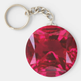 July Birthstone- Red Ruby  by Sharles Keychain