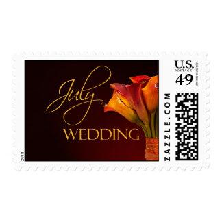 July Calla Lily Wedding Postage