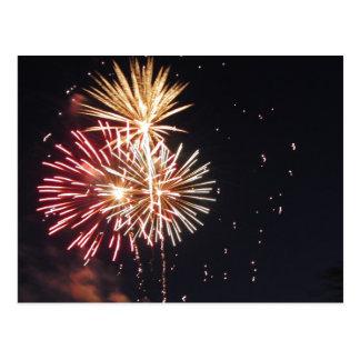 July Fireworks Postcard