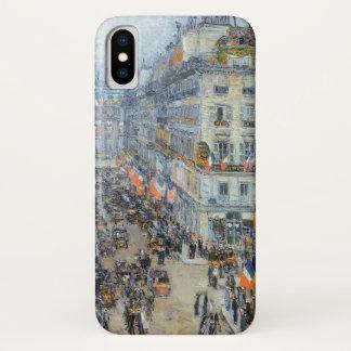 July Fourteenth, Rue Daunou by Childe Hassam iPhone X Case
