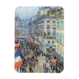 July Fourteenth, Rue Daunou by Childe Hassam Rectangular Photo Magnet