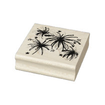 July Fourth 4th Patriotic Fireworks Star Celebrate Rubber Stamp