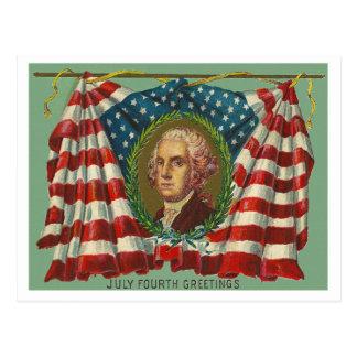 July Fourth Greetings - Washington Post Card