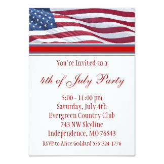 July Fourth or Campaign Party Invitation