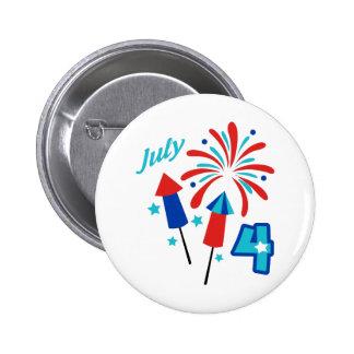 July Fourth Pinback Button