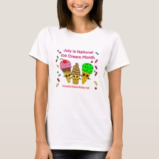 July is Ice Cream Month T-Shirt