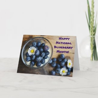July is National Blueberry Month Card