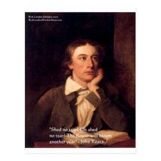 july john keats credits postcard