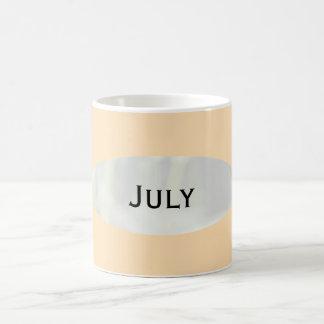 July Peach Puff Coffee Mug by Janz
