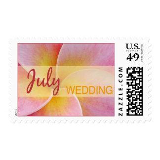 July Plumeria Wedding Stamps
