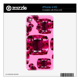 July Rubies Babies Birthstone Gems Art Decals For iPhone 4S
