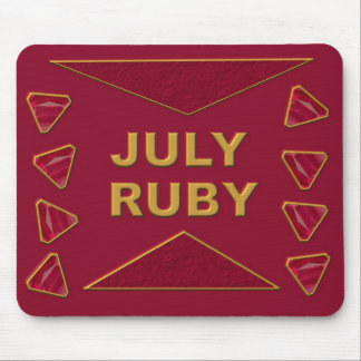 July Ruby Mouse Pad