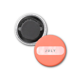 July Small Round Tomato Red Magnet by Janz