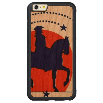 July the 4th horse patriotic Independence Day Carved® Cherry iPhone 6 Plus Bumper Case
