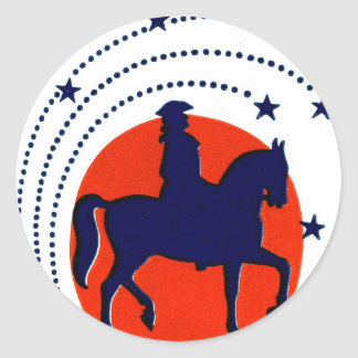 July the 4th horse patriotic Independence Day Classic Round Sticker