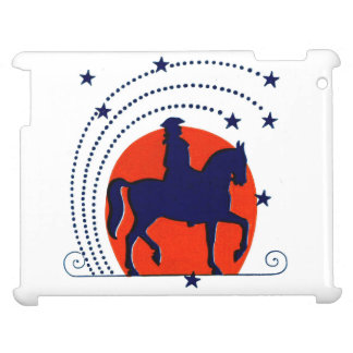 July the 4th horse patriotic Independence Day iPad Cases