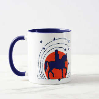 July the 4th horse patriotic Independence Day Mug