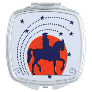 July the 4th horse patriotic Independence Day Mirror For Makeup