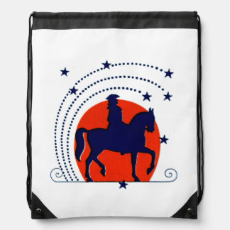 July the 4th horse patriotic Independence Day Backpacks