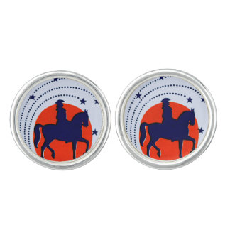 July the 4th horse patriotic Independence Day Cufflinks