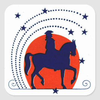 July the 4th horse patriotic Independence Day Square Sticker