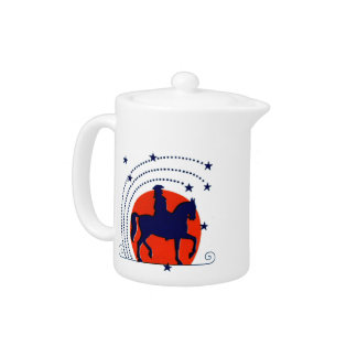 July the 4th horse patriotic Independence Day Teapot