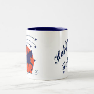 July the 4th horse patriotic Independence Day Two-Tone Coffee Mug