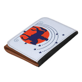 July the 4th horse patriotic Independence Day Leather Wallets