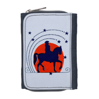 July the 4th horse patriotic Independence Day Wallet