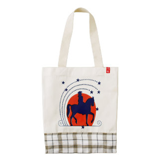 July the 4th horse patriotic Independence Day Zazzle HEART Tote Bag
