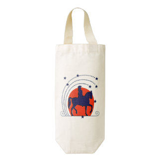 July the 4th horse patriotic Independence Day Zazzle HEART Wine Bag