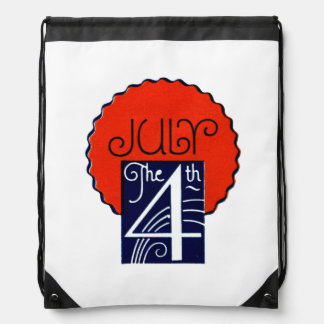 July the 4th mod retro patriotic Independence Day Backpack