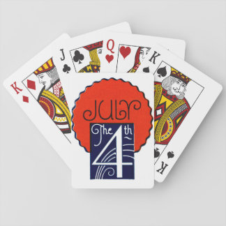 July the 4th mod retro patriotic Independence Day Poker Deck