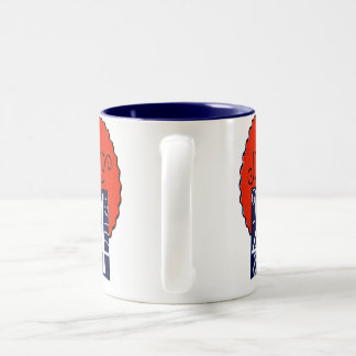 July the 4th mod retro patriotic Independence Day Two-Tone Coffee Mug