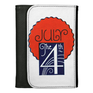 July the 4th mod retro patriotic Independence Day Wallet