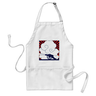 July the 4th vintage cannon artillery patriotic adult apron
