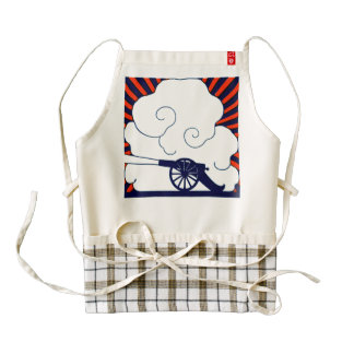 July the 4th vintage cannon artillery patriotic zazzle HEART apron