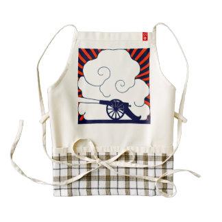 July the 4th vintage cannon artillery patriotic zazzle HEART apron