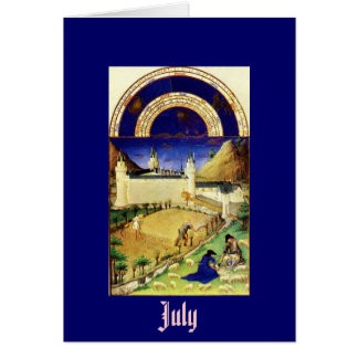 July, the Tres Riches Heures du Duc de Berry Stationery Note Card